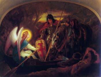 Sir Joseph Noel Paton : How an Angel rowed Sir Galahad