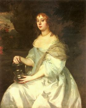 Sir Peter Lely : Portrait Of Hannah Bulwer