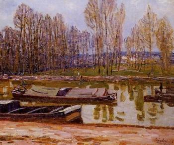 Barges on the Loing Canal, Spring