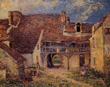 Courtyard of a Farm at Saint-Mammes