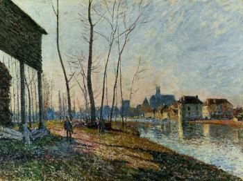 February Morning at Moret-sur-Loing