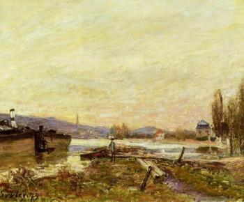 Alfred Sisley : Saint-Cloud, Banks of the Seine