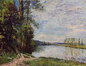 The Path from Veneux to Thomery along the Water, Evening