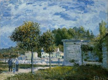 Alfred Sisley : The Watering Place at Marly