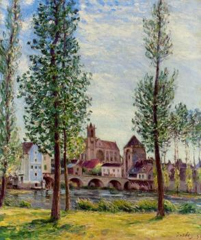 View of Moret-sur-Loing through the Trees