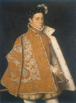 Sofonisba Anguissola : A portrait of a young alessandro farnese, the future duke of parma