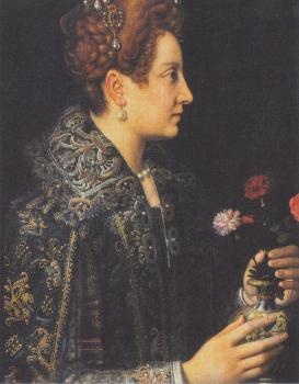 Sofonisba Anguissola : Portrait of a young woman in profile