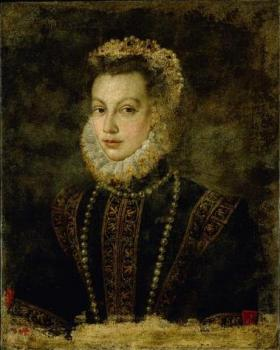 Sofonisba Anguissola : Portrait of queen elisabeth of spain