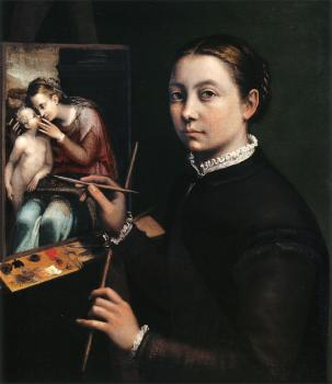 Sofonisba Anguissola : Self portrait at the easel