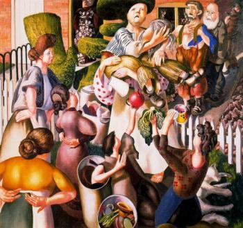 Stanley Spencer : The Dustman or the Lovers