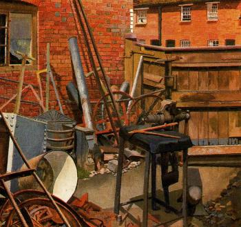 Stanley Spencer : The Blacksmith's Yard, Cookham