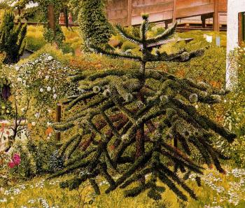 Stanley Spencer : The Monkey Puzzle, Whitehouse, Northern Ireland