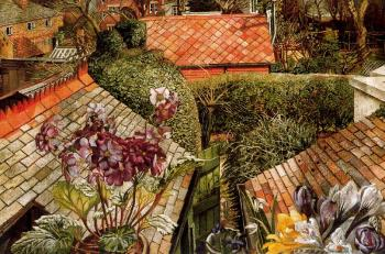 Stanley Spencer : Cookham, Flowers in a Window