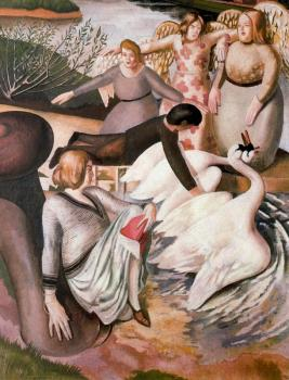 Stanley Spencer : Separating Fighting Swans