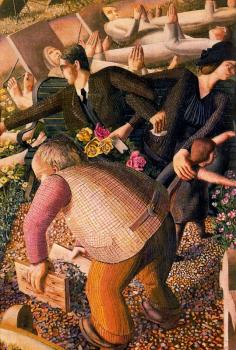 Stanley Spencer : The Resurrection, Waking Up II