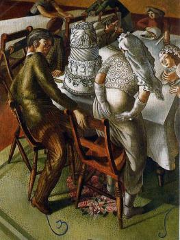Stanley Spencer : The Marriage at Cana, Bride and Bridegroom