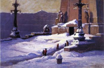 Theodore Clement Steele : Monument in the Snow