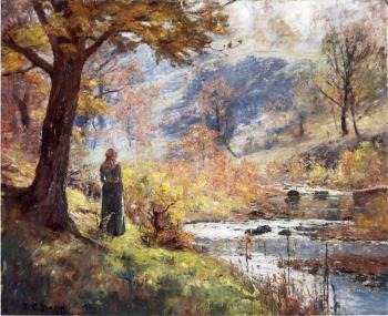 Theodore Clement Steele : Morning by the Stream