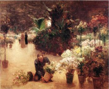 Theodore Clement Steele : Flower Mart