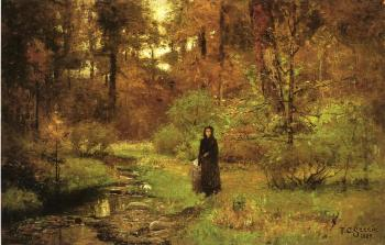 Theodore Clement Steele : The Brook in the Woods