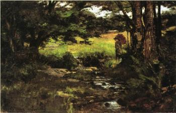 Theodore Clement Steele : Brook in Woods