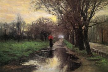 Theodore Clement Steele : Meridian Street, Thawing Weather