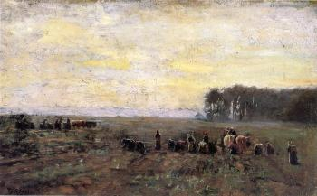 Theodore Clement Steele : Haying Scene