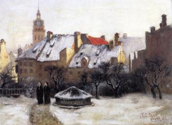 Theodore Clement Steele : Winter Afternoon, Old Munich