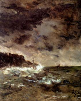 Alfred Stevens : A Stormy Night