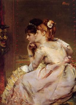 Alfred Stevens : The Japanese Mask