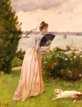 Alfred Stevens : The Lady with the Fan