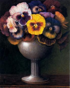 Stone Roberts : Pansies and goblet