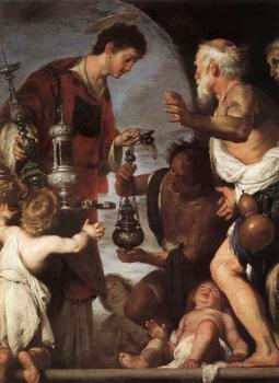 Bernardo Strozzi : The Charity of St Lawrence