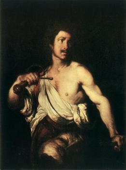 Bernardo Strozzi : David with the Head of Goliath