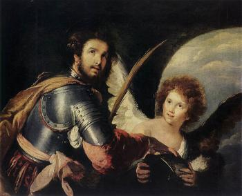 Bernardo Strozzi : St Maurice and the Angel