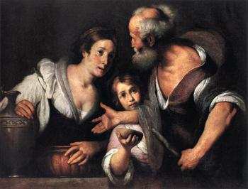 Bernardo Strozzi : Prophet Elijah and the Widow of Sarepta