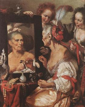 Bernardo Strozzi : Old Woman at the Mirror