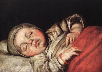 Bernardo Strozzi : Sleeping Child