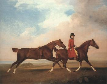George Stubbs : William Anderson with Two Saddle-horses