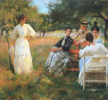 Edmund Charles Tarbell : In the Orchard