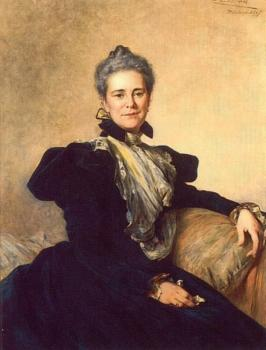 Theobald Chartran : Portrait of Mrs Charles Lockhart