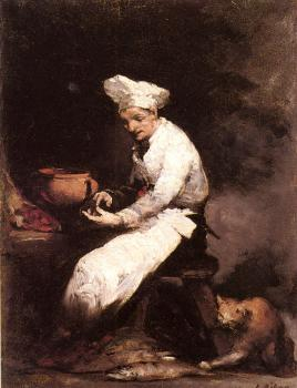 Theodule-Augustin Ribot : The Cook and the Cat