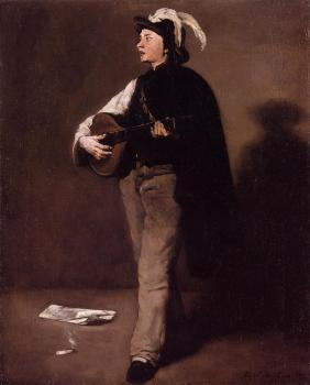 Theodule-Augustin Ribot : The Mandolin Player