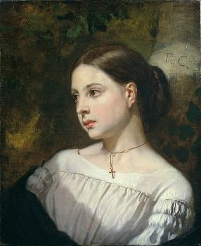 Thomas Couture : Portrait of a Girl