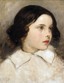 Thomas Couture : Study of a Young Girl