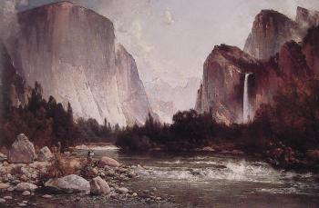 Thomas Hill : Fishing on the Merced River