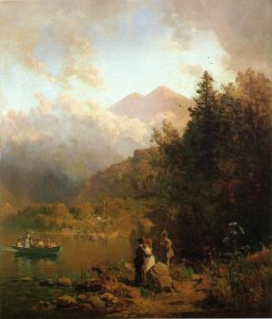Thomas Hill : Fishing Party in the Mountains