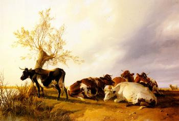 Thomas Sidney Cooper : Dairy Cows Resting