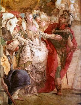 Giovanni Battista Tiepolo : The Meeting of Anthony and Cleopatra, detail,