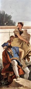 Giovanni Battista Tiepolo : A Seated Man and a Girl with a Pitcher